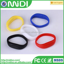 usb flash silicone bracelet usb wrist band , wedding flash drive favors usb