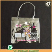 manufacturer promotional travel pvc bag with handle and zipper closure