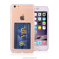 Ultra thin TPU phone cover with support Credit Card Holder phone case for Apple iPhone 6 4.7""