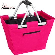 600d polyester fabric folding shopping baskets
