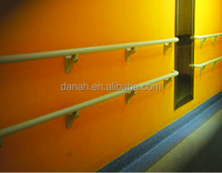 PVC outside and aluminum inside culindrcal handrail for protection