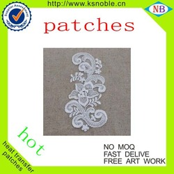Fashion custom self adhesive fabric back embroidery back patch