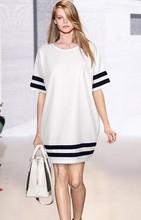 Z76153A 2015 European Style splicing big size short-sleeved maternity dress