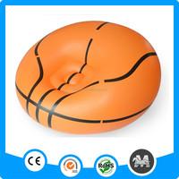 110*80cm eco-friendly PVC cheap basketball inflatable ball sofa in living room sofas