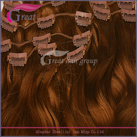 wholesale manufacturer Indian hair curly clip in hair extension