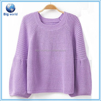 Models sweater for girls& knit sweater for young girls&design of hand made sweaters BF-016