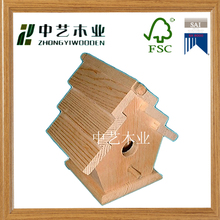 Cheap solid customized Wooden bird house