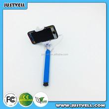 cute Selfie Mono pod with Cartoon, colorful smartphone monopod selfie stick phone accessory
