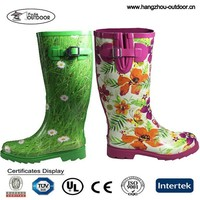 2015 Cheap Womens/Ladies Fashion Rubber Rain Boots/Gumboots Supplier