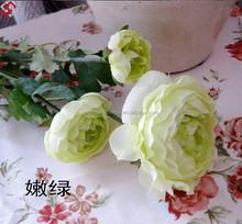 Artificial Silk wedding flower Ranunculus, Artificial Handmade Flower Craft for Wedding Decoration