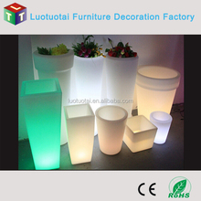 Rechargeable luminous home/garden/outdoor decorative round led pot/vase