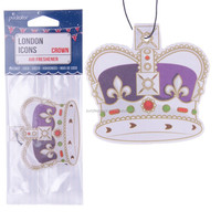 London Icons Coconut Crown Paper Car Air Freshener