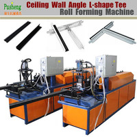 Making high running speed wall angle tee L shape and W shape ceiling carrier roll forming machine