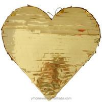 Gold or silver heart pinata, birthday Pinata