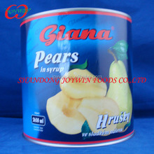 Canned pear in 0.82kg/850ml