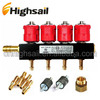 Automobile DC12V Type 30 4CYL LPG CNG Injectors Rail