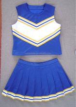 cheerleading apparel: white/blue