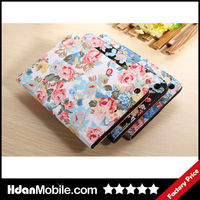 Flower Case PU Leather Magnetic Smart Case Flip Cover Stand For iPadmini2 Tablet Holster