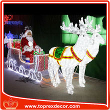 Outdoor LED lighted santa claus christmas decoration