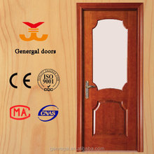New rustic style new design solid wooden glass doors custom