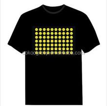 EL Light flash equalizer t-shirt/Cotton el led t-shirts with custom design/light t-shirt