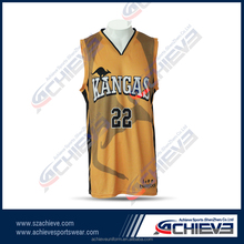 2015 custom basketball uniform yellow design for men