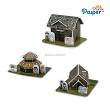 Children game house puzzle 3d foam models