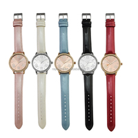 RF14-2864 genuine leather interchangeable buckles lady watches