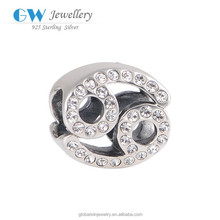 DIY Silver Accessories Jewelry Handmade Material 12pcs Of Antique Silver Cancer Charms Pendants Zodiac Charm X321A