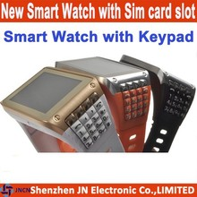 2015 hot 1.77 inch touch screen QWERTY keypad bluetooth low hand watch mobile phone price