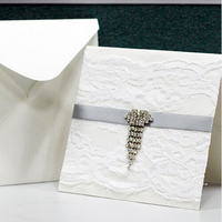 Attractive design with competitive price decorated invitation lace folded