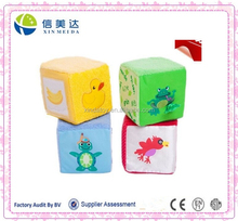 Children educational toy cube shape with animal pattern