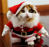 Santa Claus Cosplay Cat Costume/Clothing For Pets/Christmas Puppy Dog Clothes
