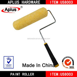 wall decorative paint roller brush with plastic handle/piant roller brush design