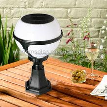 Ip65 ao ar livre integração branco led solar jardim luz bola forma lâmpada