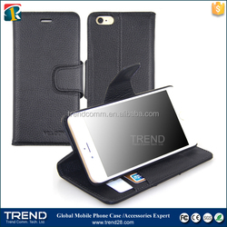 High quality stand wallet leather holster case for iphone 6 6s