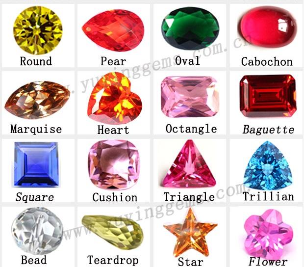 Nombres de formas de diamantes
