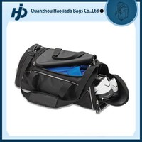 china supplier durable gym travel bag with shoe compartment