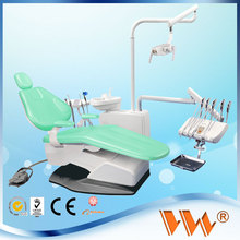 led operating light dental arm chair with genuine leather seat