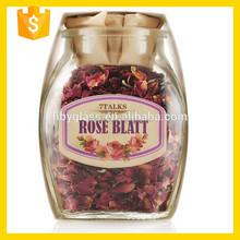 flint glass bottles for food, Rose Tea