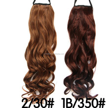Fashion Woman Long Wavy Stylish Claw Clip Ponytail Clip Hair Extension, Synthetic Hair Tail Claw on Ponytail