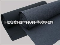 black solid color needle punched non woven auto carpet