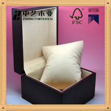 2015 Fashion single Wooden wrist watch boxes case With Pillow