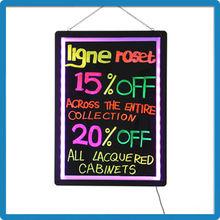 Best Selling ZD LED Sign Remote Control 90 Flashing Modes Lighting LED Signs Aluminum Alloy Black Board Magic Writing Slate