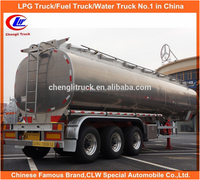 China stainless steel 36-60CBM CIMC 3 axles high quality oil tanker semi trailer Stainless Steel 3 Axles Oil Tanker Semi Trailer