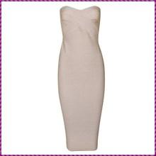 natural color sexy nude wrap boob tube top design wedding dress