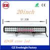 20 inch 126w 8820LM off road coated cree car led light bar 12v