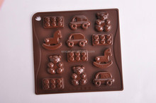 NEW design childen toys DIY mini animals shape chocolate mould for kids