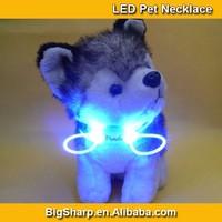 80cm Pet LED Lighting Dog Necklace 8 LED Color Light Necklaces Safety Flashing Pet Wedding Dress DIY Sharp DP004