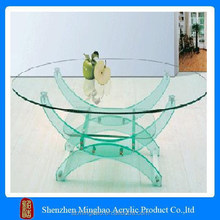 Fashion acrylic dining table with curved table legs
